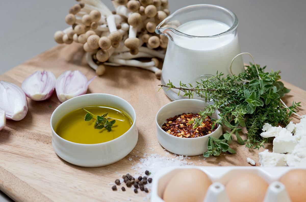 Mushroom, Goat Cheese and Herb Frittata