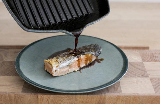 Crispy Fresh Salmon with a Balsamic Glaze