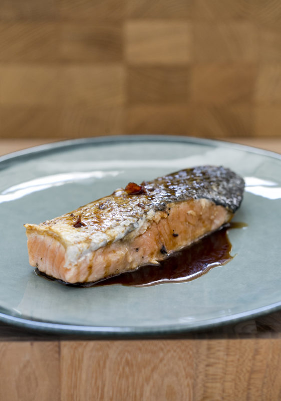 Crispy Fresh Salmon with a Balsamic Glaze