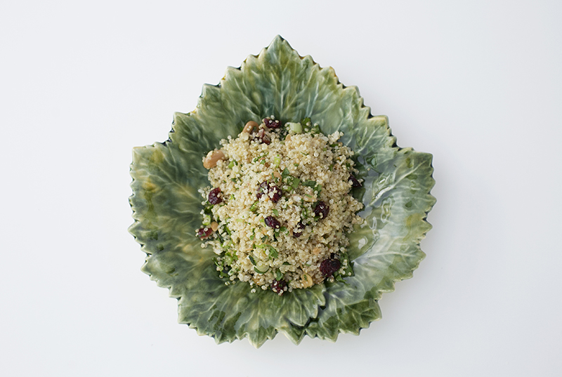 Quinoa salad with cranberries and herbs