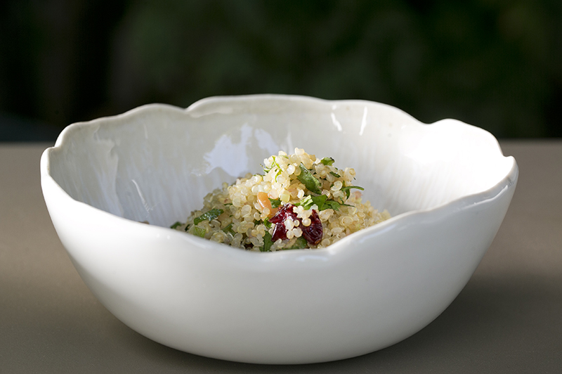 Quinoa salad with cranberries and herbs3
