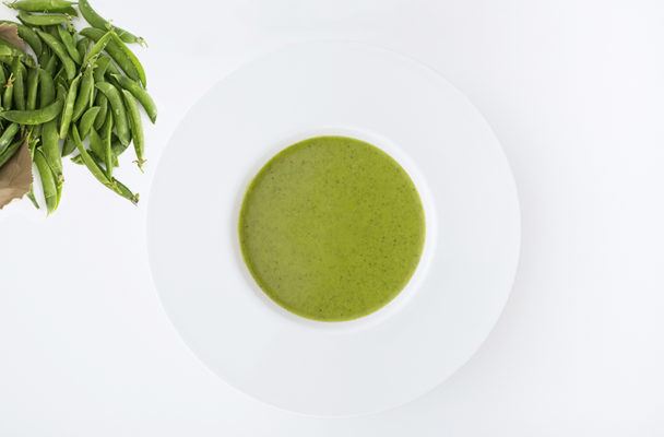 Fresh minty pea soup
