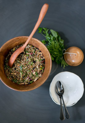 Jewelled Rice with lentils