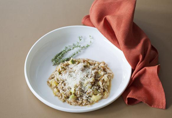 Autumn barley risotto