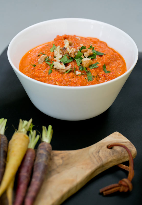 Roasted Red Pepper Spread with Walnuts