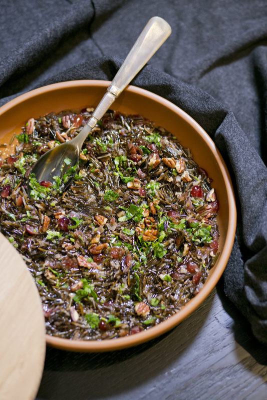 Warm & Festive Wild Rice with Dried Fruit & Nuts