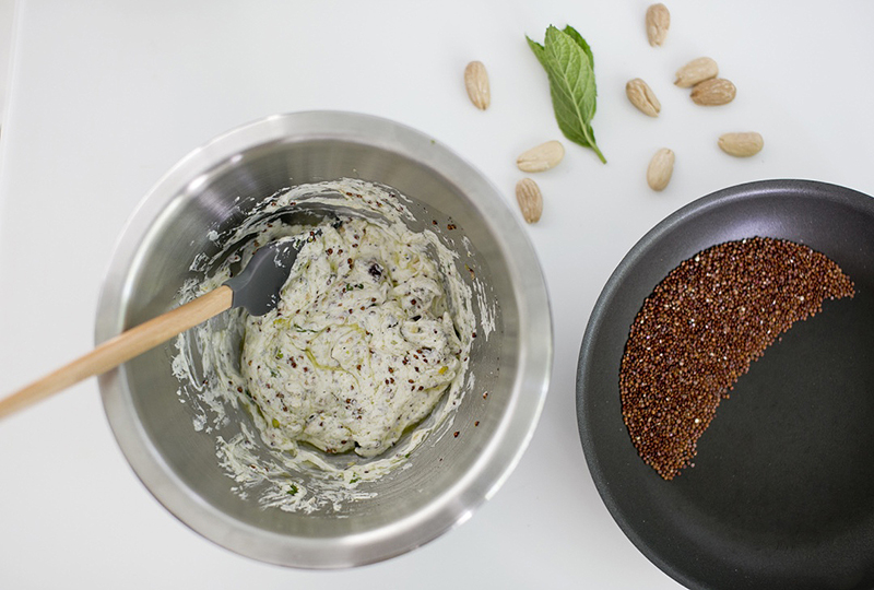 Spinach Spread with Toasted Quinoa