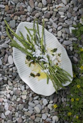 Wild Asparagus with Feta Cheese