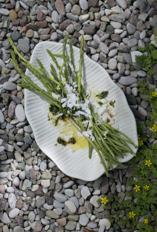 Wild Asparagus with Feta Cheese