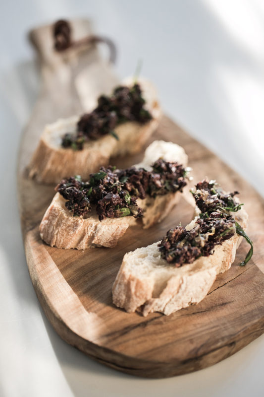 Black Olive Tapenade with Anchovy & Capers