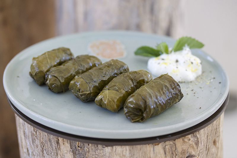 Dolmadakia - Vine Leaves Stuffed with Rice