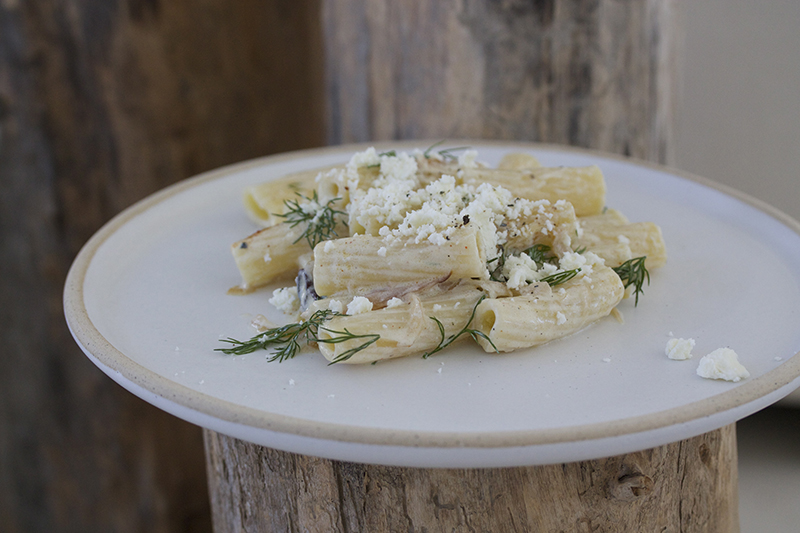 Pasta with Feta Yogurt & Dill