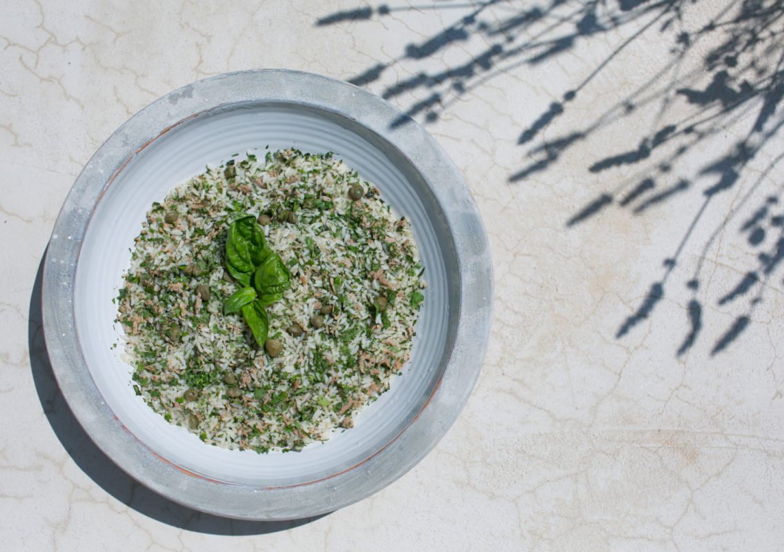 Sandra Choremi Tuna Rice Salad with Capers and Herbs