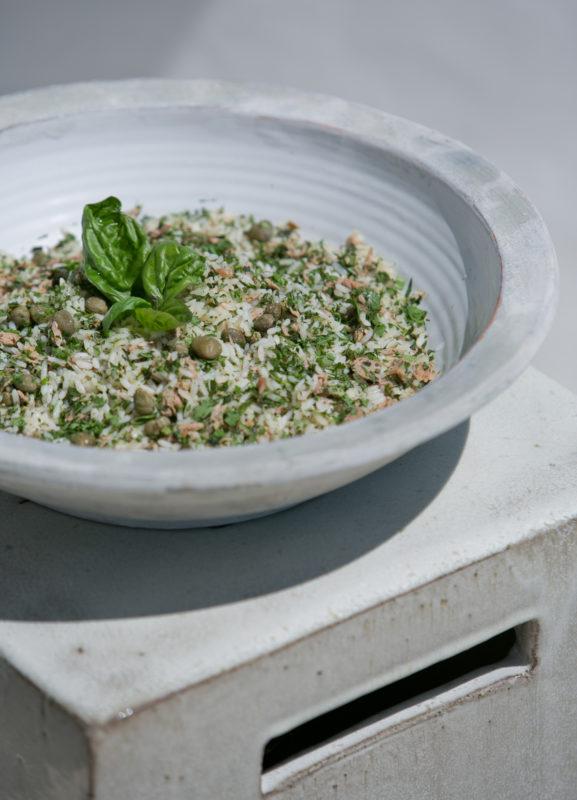 Sandra Choremi Tuna Rice Salad with Capers and Herbs