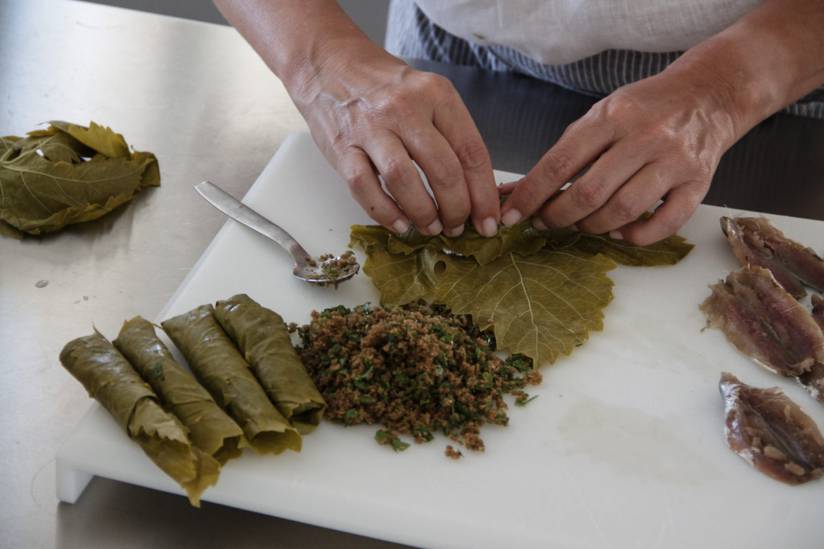 Sandra Choremi_Spicy Sardines Wrapped in Vine Leaves