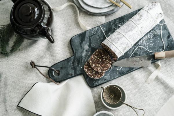 Sandra Choremi_Italian chocolate salame with Amaretti